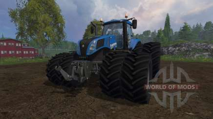 New Holland T8.320 dual wheels para Farming Simulator 2015