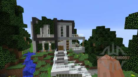 Modern Cliffside House para Minecraft