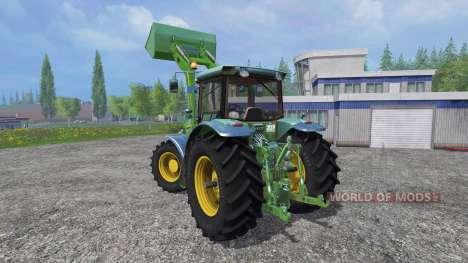 John Deere 7930 with front loader para Farming Simulator 2015