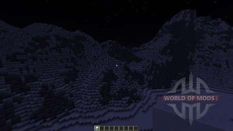 Realistic Snowy Mountains Costum Terrain para Minecraft