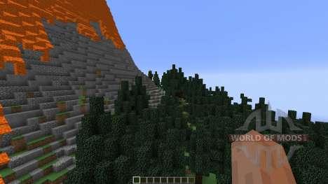 The Erupting Volcano Survival Map para Minecraft