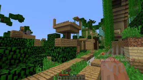 Dead town with parkour zones para Minecraft