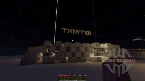 Theater House and minecart renting system para Minecraft
