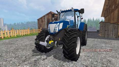 New Holland T7.270 blue power v1.1 para Farming Simulator 2015