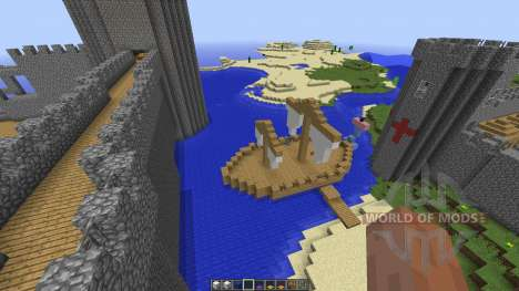 Small Giant Castle Water Base para Minecraft