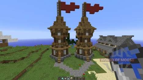 Medieval Village Concept para Minecraft