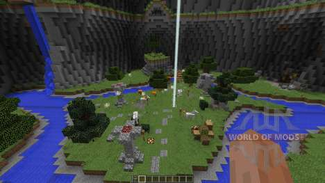 Big Closed Arena in a Dome with souterrains para Minecraft