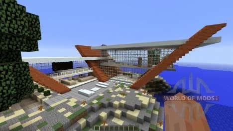 Diagonal Ultra Minimal Island Home para Minecraft