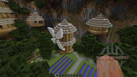 Mountain Sky Village Map para Minecraft