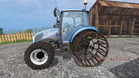 New Holland T4.75 v2.0 con llantas de acero para Farming Simulator 2015