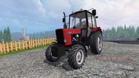MTZ-82.1 Belarús rojo para Farming Simulator 2015