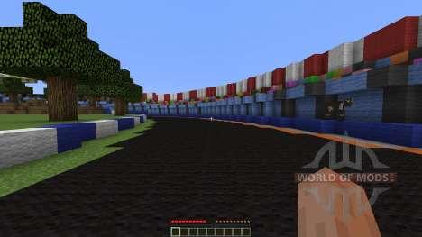 Mario Kart figure 8 circuit para Minecraft