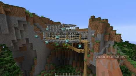 A MINIMILIST ROCK-CLIFF para Minecraft