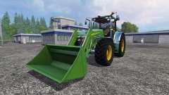 John Deere 7930 with front loader