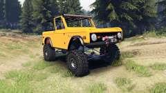 Ford Bronco 1966 [orange] para Spin Tires