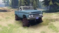 Chevrolet С-10 1966 Personalizado en dos tonos de azul marina para Spin Tires