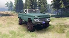 Chevrolet С-10 1966 Personalizado de dos tonos trópico para Spin Tires