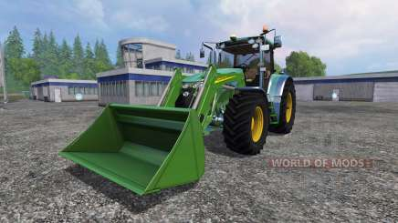 John Deere 7930 with front loader para Farming Simulator 2015