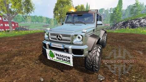 Mercedes-Benz G65 AMG 6x6 [passion paysage] para Farming Simulator 2015