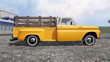 Chevrolet C10 Fleetside 1966 v1.3 para Farming Simulator 2015