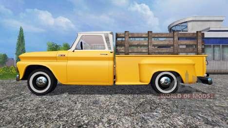 Chevrolet C10 Fleetside 1966 para Farming Simulator 2015