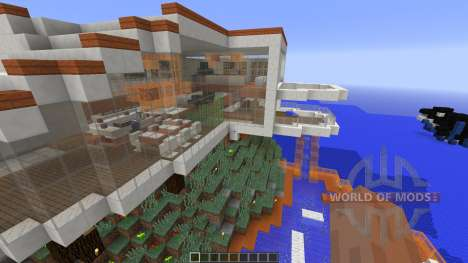 Modern Tony Stark Based Cliff-side Mansion para Minecraft