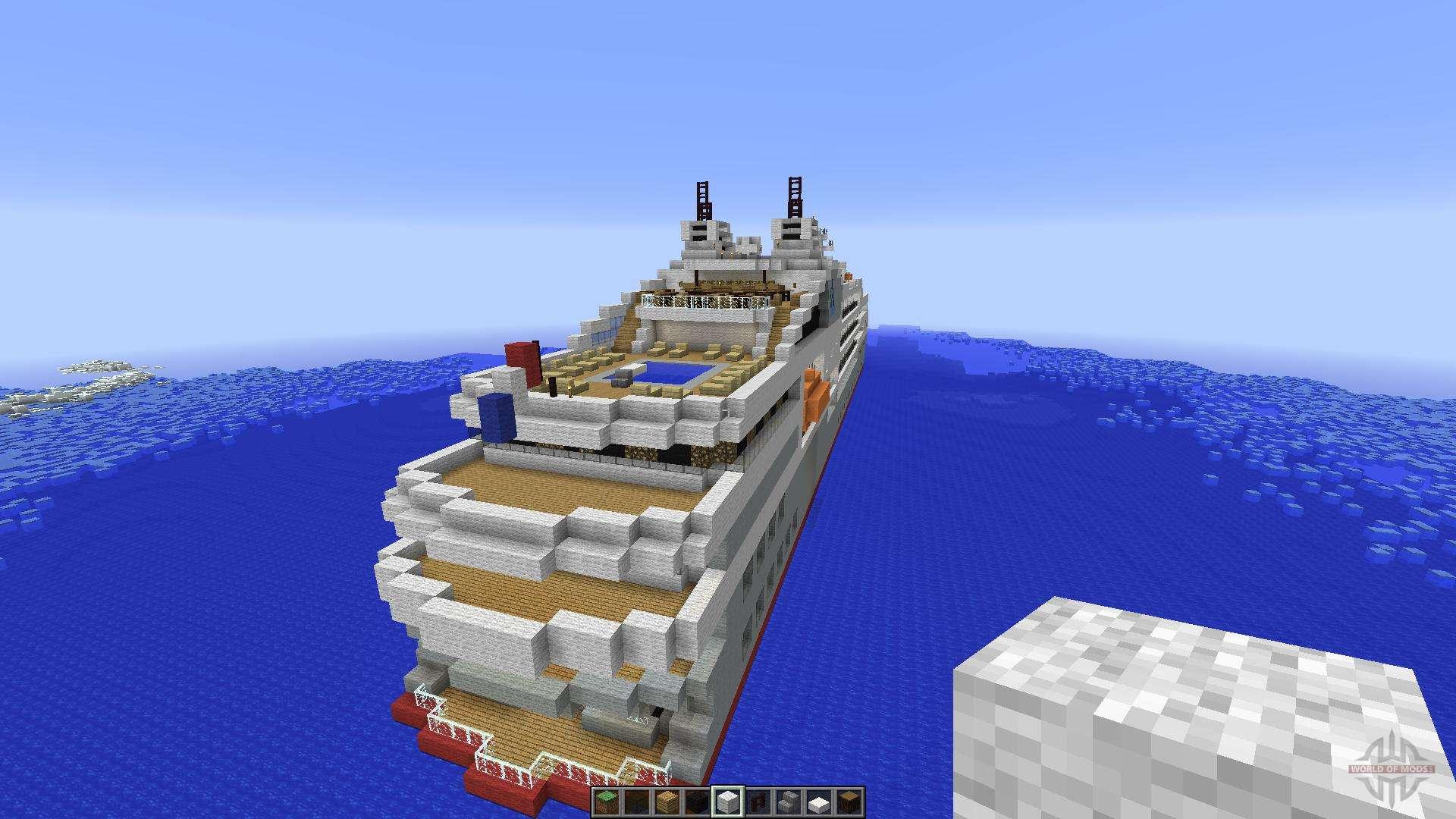 Карта с кораблем в майнкрафт