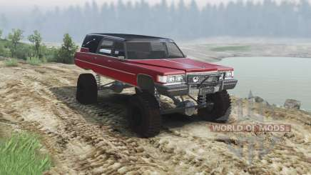Cadillac Hearse 1975 [monster] [blood red and bl para Spin Tires