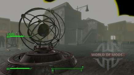 El teletransportador en la sala de los desarrolladores para Fallout 4