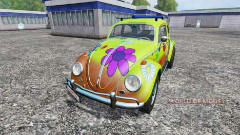 Volkswagen Beetle 1966 [peace and love] para Farming Simulator 2015