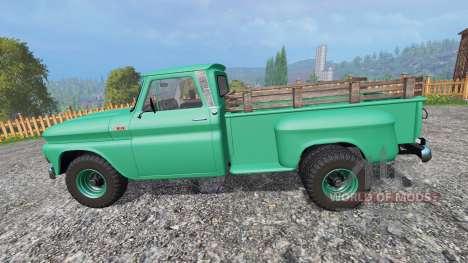Chevrolet C10 Fleetside 1966 [custom] para Farming Simulator 2015