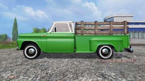 Chevrolet C10 Fleetside 1966 v1.1 para Farming Simulator 2015