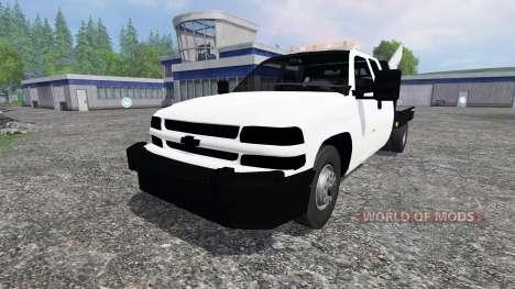 Chevrolet Silverado Flatbed v2.0 para Farming Simulator 2015