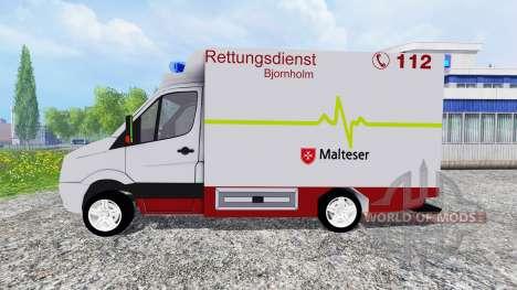 Volkswagen Crafter EMS para Farming Simulator 2015
