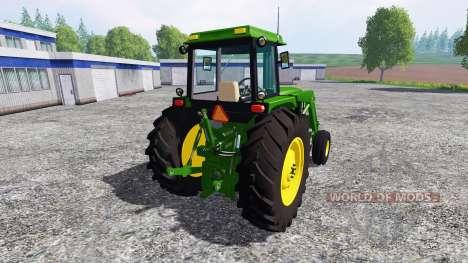 John Deere 4455 para Farming Simulator 2015