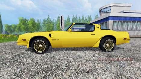 Pontiac Firebird Trans Am 1977 v1.2 para Farming Simulator 2015