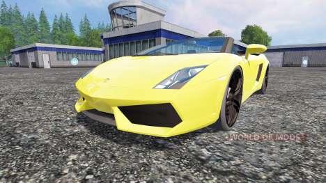Lamborghini Gallardo Spyder para Farming Simulator 2015