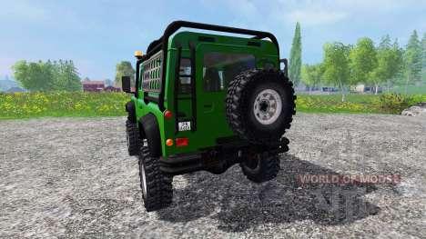 Land Rover Defender 90 [green] para Farming Simulator 2015