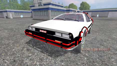 DeLorean DMC-12 Back To The Future para Farming Simulator 2015