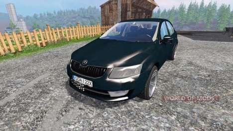 Skoda Octavia III v2.0 para Farming Simulator 2015