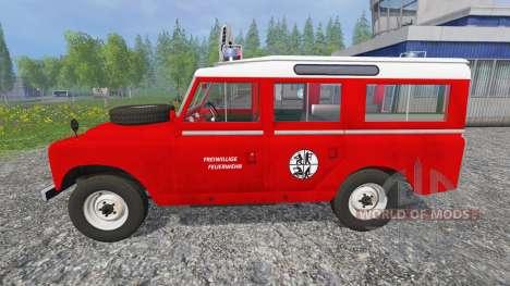 Land Rover Series IIa Station Wagon [feuerwehr] para Farming Simulator 2015