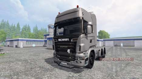 Scania R730 [Silver] v3.0 para Farming Simulator 2015