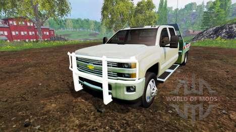 Chevrolet Silverado 3500 [flatbed] v7.0 para Farming Simulator 2015