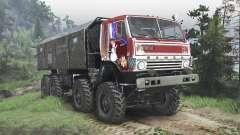 KamAZ-6350 Mustang [rojo][08.11.15] para Spin Tires