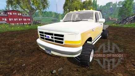 Ford F-150 XL 1992 [flatbed] para Farming Simulator 2015