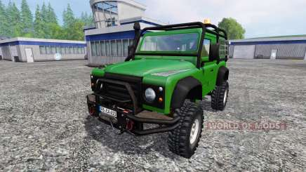 Land Rover Defender 90 [green] para Farming Simulator 2015