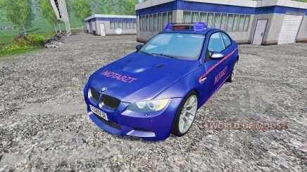 BMW M3 (E92) Notartzt v1.2 para Farming Simulator 2015