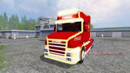 Scania T164 Coca-Cola Christmas para Farming Simulator 2015