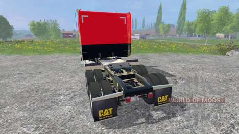 Peterbilt 388 [red and black] para Farming Simulator 2015
