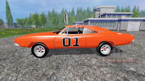 Dodge Charger RT 1969 General Lee para Farming Simulator 2015